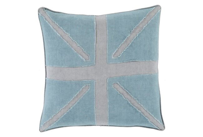 Accent Pillow-United Aqua 18X18 - 360