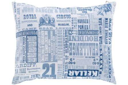 Accent Pillow-Verbosity Blue 18X18