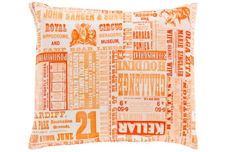 Accent Pillow-Verbosity Orange 18X18