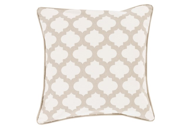 Accent Pillow-Ivory Morrocan Tile 18X18