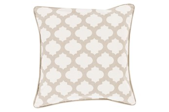Accent Pillow-Ivory Morrocan Tile 22X22