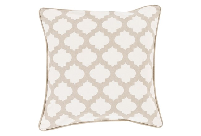 Accent Pillow-Ivory Morrocan Tile 22X22 - 360