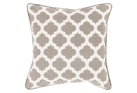 Accent Pillow-Taupe Morrocan Tile 18X18