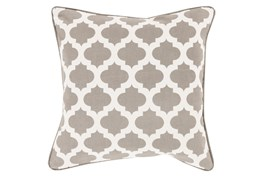 Accent Pillow-Taupe Morrocan Tile 22X22