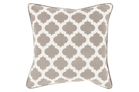 Accent Pillow-Taupe Morrocan Tile 22X22 - Main