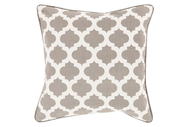 Accent Pillow-Taupe Morrocan Tile 22X22 - 360