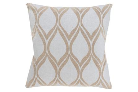 Accent Pillow-Cameron Oval Silver Metallic 18X18