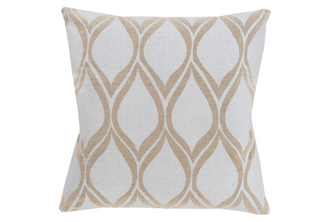 Accent Pillow-Cameron Oval Silver Metallic 18X18