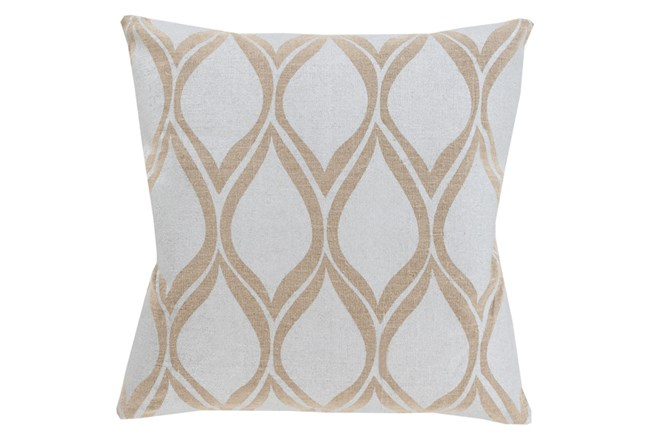 Accent Pillow-Cameron Oval Silver Metallic 18X18 - 360