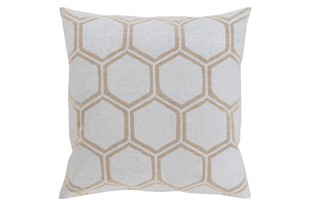Accent Pillow-Cathryn Honeycomb Light Gold 18X18