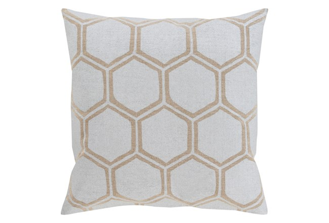 Accent Pillow-Cathryn Honeycomb Light Gold 18X18 - 360