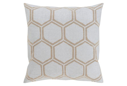 Accent Pillow-Cathryn Honeycomb Light Gold 20X20