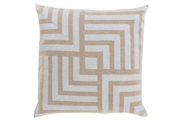 Accent Pillow-Celisse Striped Square Light Tan 18X18