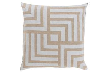 Accent Pillow-Celisse Striped Square Light Tan 18X18