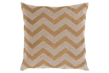 Accent Pillow-Cameron Chevron Gold Metallic 18X18