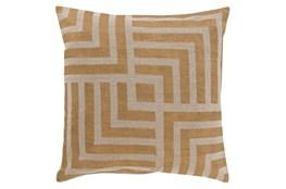 Accent Pillow-Celisse Striped Square Dark Tan 18X18