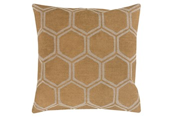 Accent Pillow-Cathryn Honeycomb Dark Gold 18X18