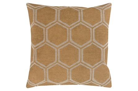 Accent Pillow-Cathryn Honeycomb Dark Gold 18X18