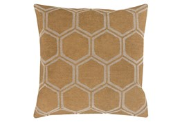 Accent Pillow-Cathryn Honeycomb Dark Gold 20X20