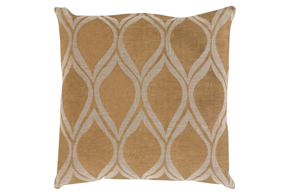 Accent Pillow-Cameron Oval Gold Metallic 18X18