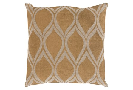 Accent Pillow-Cameron Oval Gold Metallic 18X18