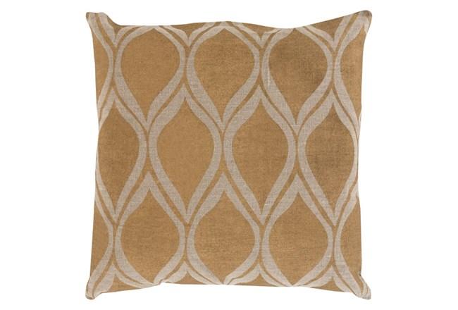 Accent Pillow-Cameron Oval Gold Metallic 18X18 - 360