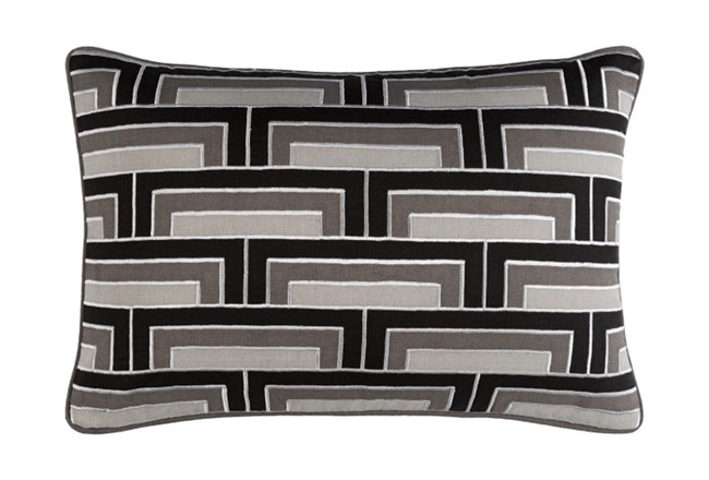 Accent Pillow-Riley Charcoal 13X20 - 360