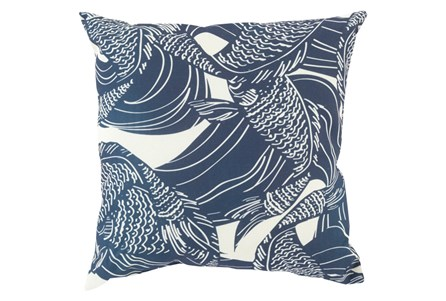 Accent Pillow-Jengo Navy 18X18