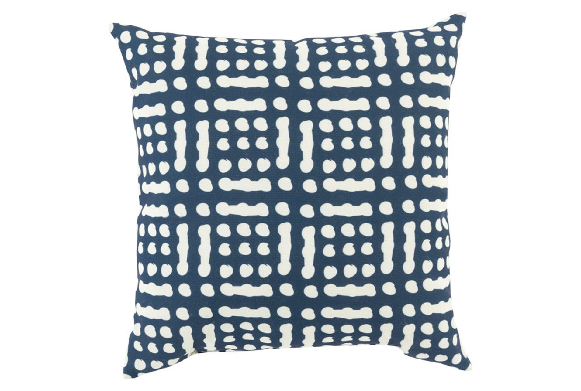 Decorative Pillows Living Spaces : Accent Pillow-Eshe Blue 18X18 Living Spaces