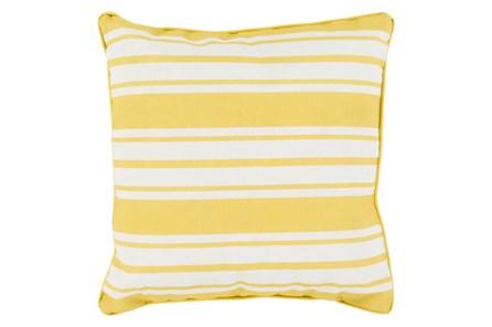 Accent Pillow-Sea Breeze Stripe Gold 16X16 - Main