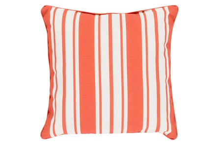 Accent Pillow-Sea Breeze Stripe Rust 16X16 - Main