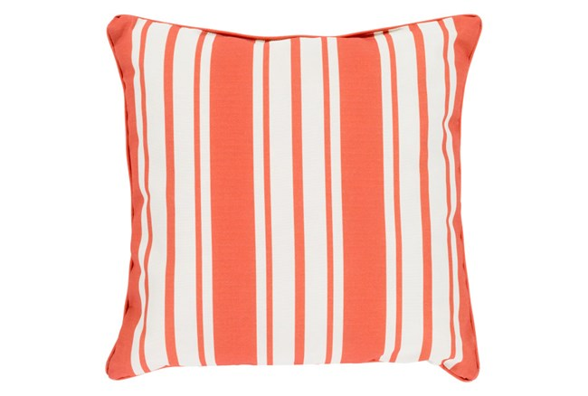 Accent Pillow-Sea Breeze Stripe Rust 16X16 - 360