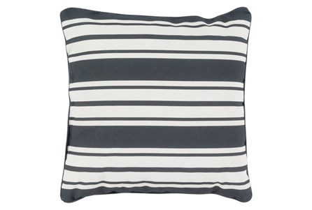 Accent Pillow-Sea Breeze Stripe Black 16X16