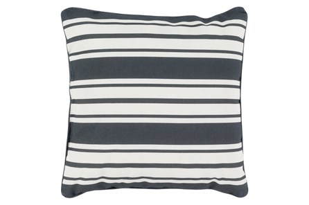 Accent Pillow-Sea Breeze Stripe Black 16X16 - Main