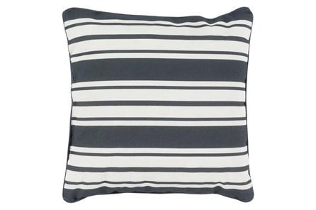 Accent Pillow-Sea Breeze Stripe Black 16X16 - Main
