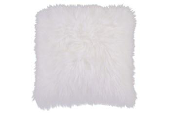 Accent Pillow-Fur Ivory 20X20