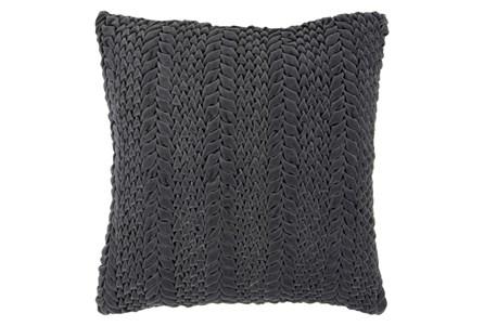 Accent Pillow-Velour Charcoal 22X22