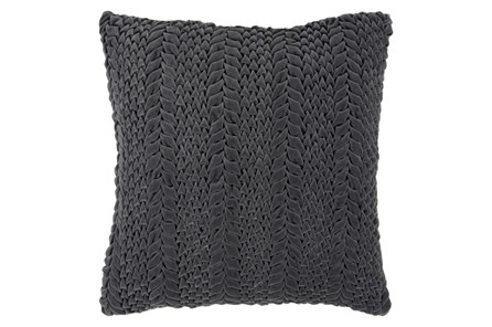 Accent Pillow-Velour Charcoal 22X22 - Main