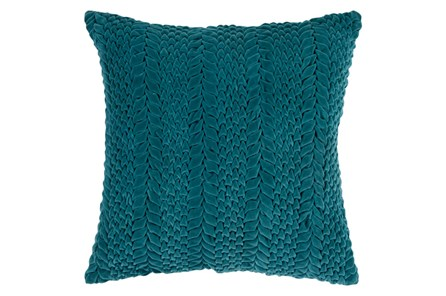 Accent Pillow-Velour Emerald 22X22 - Main