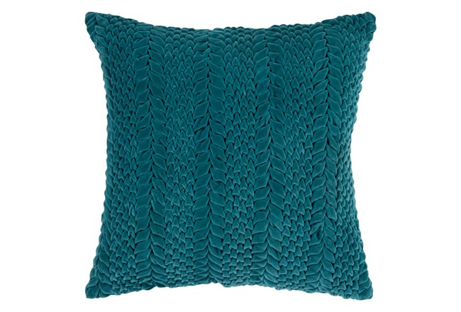 Accent Pillow-Velour Emerald 22X22 - 360