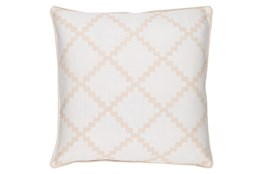 Accent Pillow-Delia Lattice Beige18X18