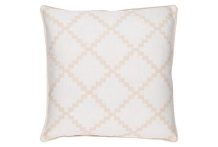 Accent Pillow-Delia Lattice Beige18X18