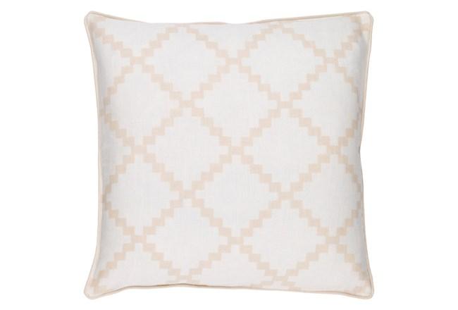 Accent Pillow-Delia Lattice Beige18X18 - 360