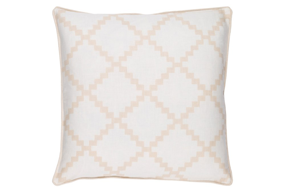Accent Pillow-Delia Lattice Beige 22X22