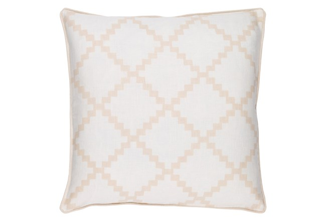 Accent Pillow-Delia Lattice Beige 22X22 - 360