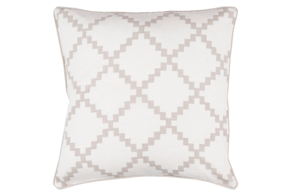 Accent Pillow-Delia Lattice Taupe 18X18
