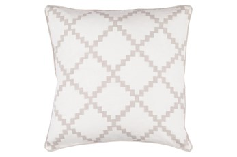 Accent Pillow-Delia Lattice Taupe 18X18
