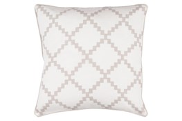 Accent Pillow-Delia Lattice Taupe 22X22
