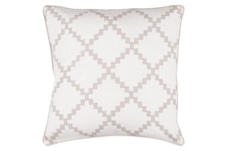 Accent Pillow-Delia Lattice Taupe 22X22