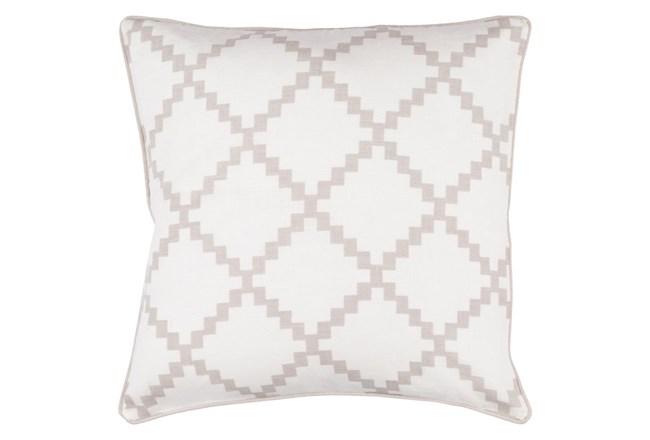 Accent Pillow-Delia Lattice Taupe 22X22 - 360
